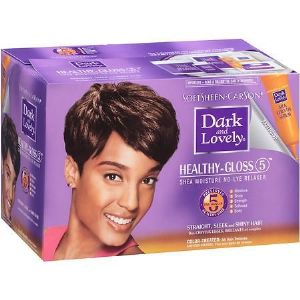 Dark and Lovely Healthy Gloss 5 Shea Moisture No-Lye Relaxer - COLOR TREATED